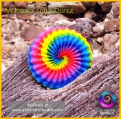 Multi Color Torus Donut - follow the spirals