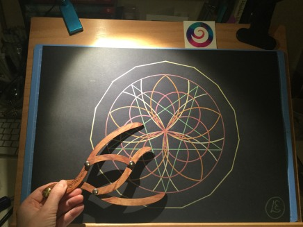 sacred geometry drawing with golden ratio 02