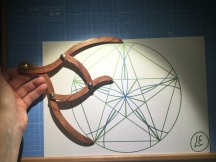 sacred geometry drawing with golden ratio 08