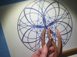 sacred geometry drawing with golden ratio 11
