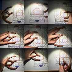 sacred geometry drawing with golden ratio 13