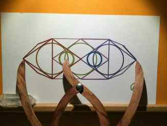sacred geometry drawing with golden ratio 16