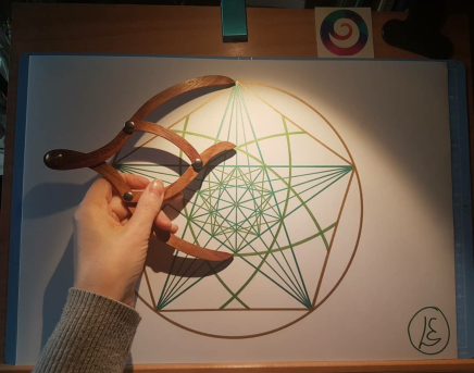sacred geometry drawing with golden ratio 17