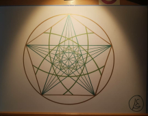 sacred geometry drawing with golden ratio 19