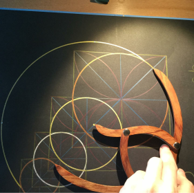 sacred geometry drawing with golden ratio 20