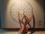 sacred geometry drawing with golden ratio 21