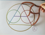 sacred geometry drawing with golden ratio 23