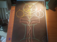 sacred geometry drawing with golden ratio 29