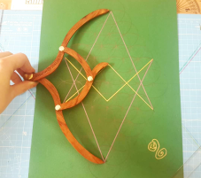 sacred geometry drawing with golden ratio 34