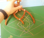 sacred geometry drawing with golden ratio 35