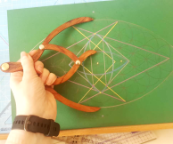 sacred geometry drawing with golden ratio 36