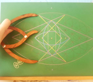 sacred geometry drawing with golden ratio 37