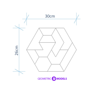hexagon puzzle dimensions