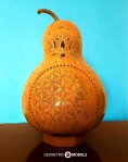 Flower of life gourd lamp – day time – front