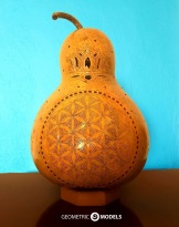 Flower of life gourd lamp - day time - front