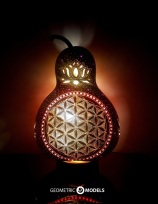 Flower of life gourd lamp - night view - front view