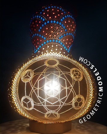 Metatrons gourd - front - night view